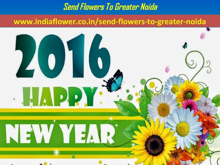 Send Flowers To Greater Noida In New Year 2016  Happy New Year To All My Friends Send #Flowers And #Gifts To Your True #Lover And #Family By http://www.indiaflower.co.in/send-flowers-to-gurgaon