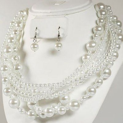 parure bijoux mariage perle. Black Bedroom Furniture Sets. Home Design Ideas