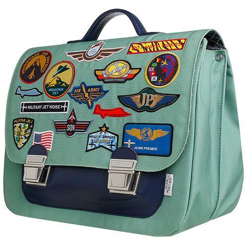 Tassen, koffers en zo-grote hippe schooltas maxi 40 cm-aeronautics maxi-Jeune Premier-9991-Op zoek naar een stijlvolle schooltas? Dan is dit exemplaar van het Belgische Jeune Premier met coole aeronautics badges zeker iets voor jou! De boekentassen van