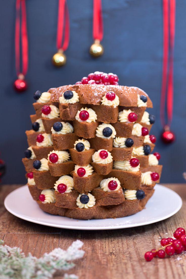 Trasforma il tuo #pandoro in un gustosissimo albero di #Natale. Scopri il nostro Pandoro Farcito #Giallozafferano #recipe #christmas #xmas