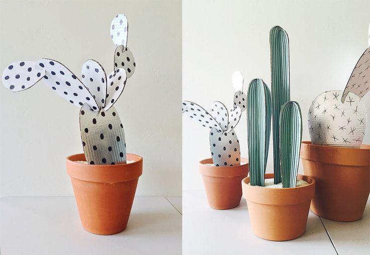 Blog Bettina Holst DIY kaktus i pap og papir 1