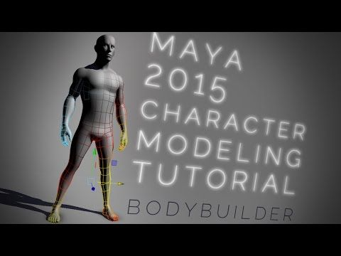 ▶ Maya 2015 bodybuilder CHARACTER MODELING tutorial - YouTube