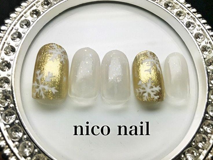 こんにちは、 nico nail です。   今回は冬ネイルのサンプルです。     大人女子でも違和感なく...