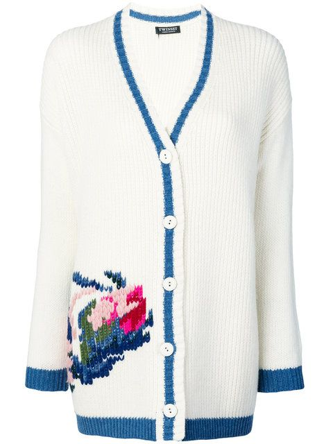 Twin-Set flower embroidered cardigan