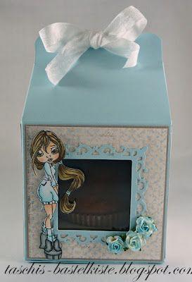 Cupcake doosje kan ook met een zeep cupcake.  Met tutorial