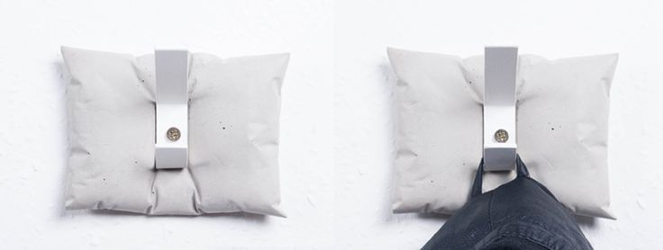 CONCRETEDICTION concrete hangers by AB Concrete Design  #pillow #concrete #fluffy