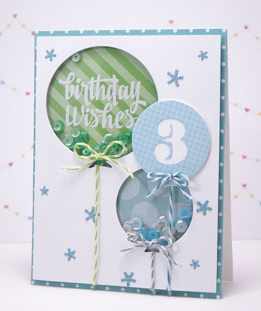 Yainea for Avery Elle using Sending You stamp set, Balloons Elle-ments dies