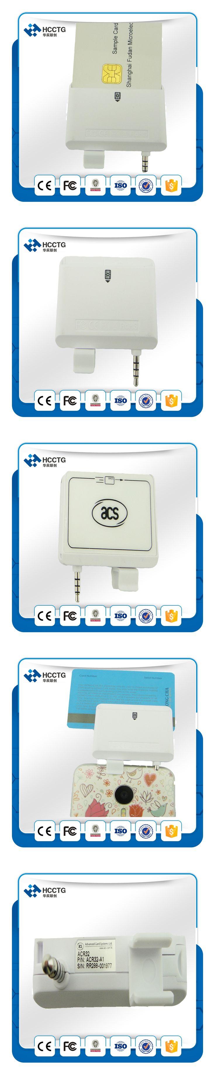 3.5mm Audio Jack Interface USB 2.0 Mobile Mate Smart Card Reader Magnetic Stripe Card Reader-ACR32