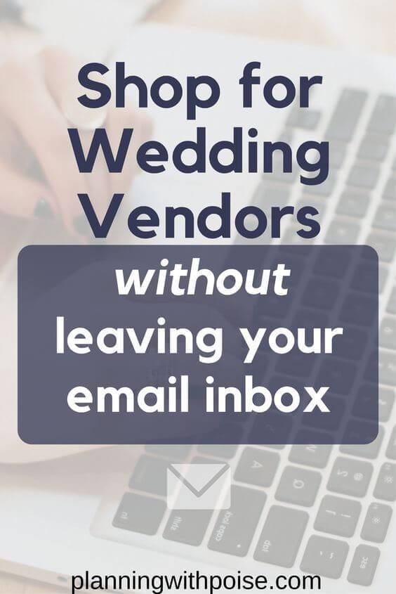 how to email wedding vendors download five templates to email