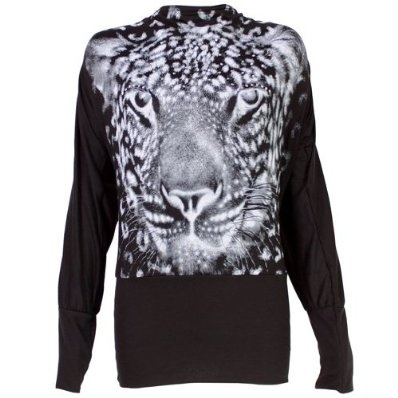 Ladies Batwing Top Long Sleeved Tunic Jumper with Tiger Print £9.99