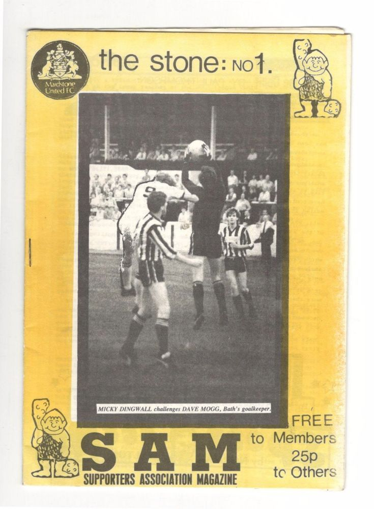 Maidstone United 1984 The Stone - Issue No1