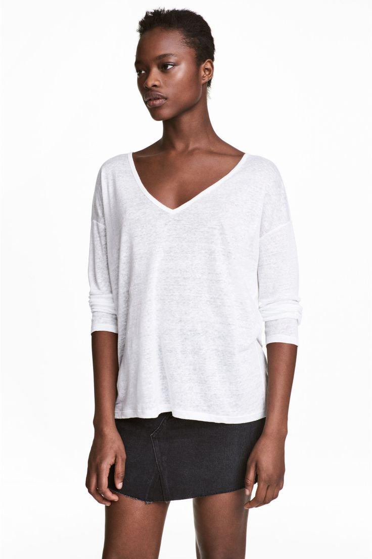 Camisola linho (branco): H&M (9,99€)