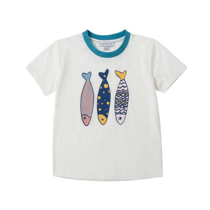 Fish Print T-Shirt | Happyology Coast Collection SS16