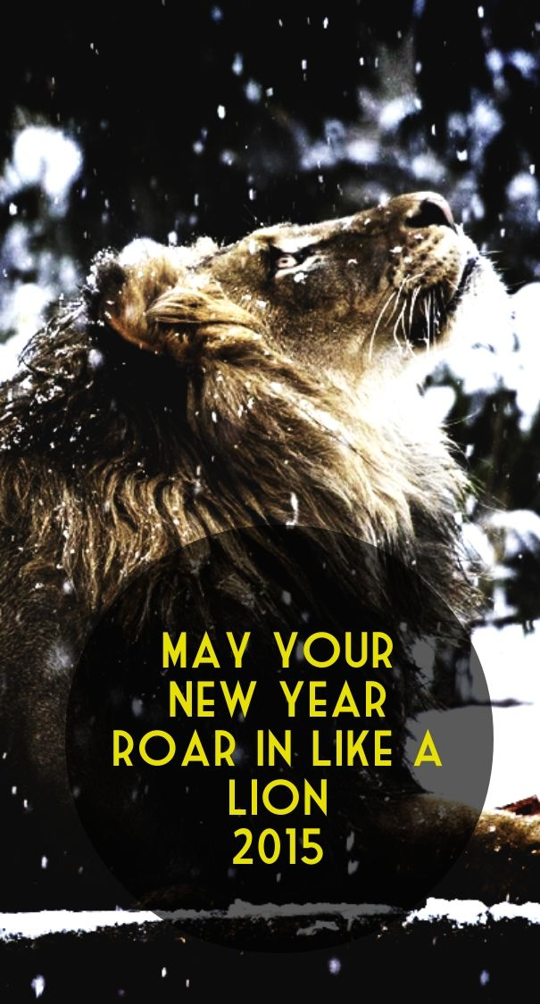 Check out my new PixTeller design! :: May your new year roar in like a lion