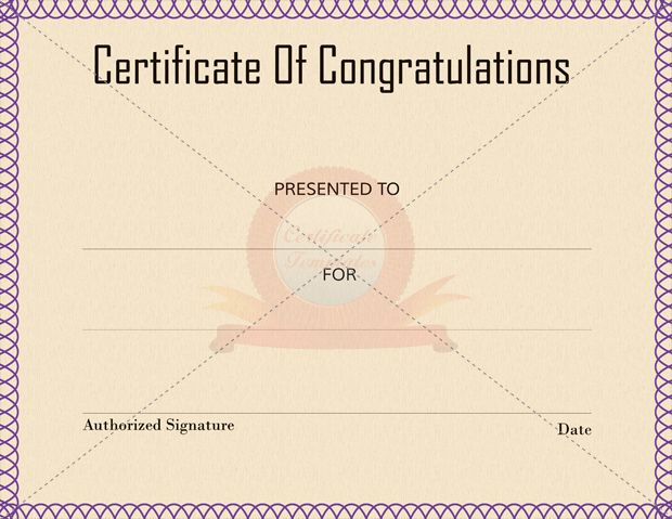 24 Best Congratulation Certificate Templates Images On Pinterest