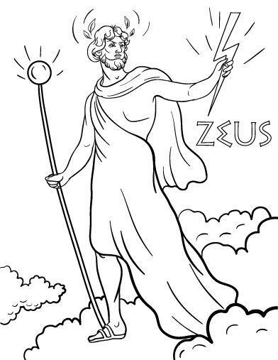 Printable Zeus Coloring Page Free PDF Download At Coloringcafe