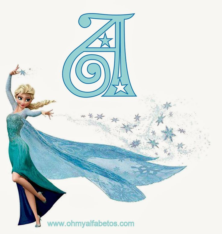 Frozen: Free printable alphabet A-Z and 0-9 with a blank one too