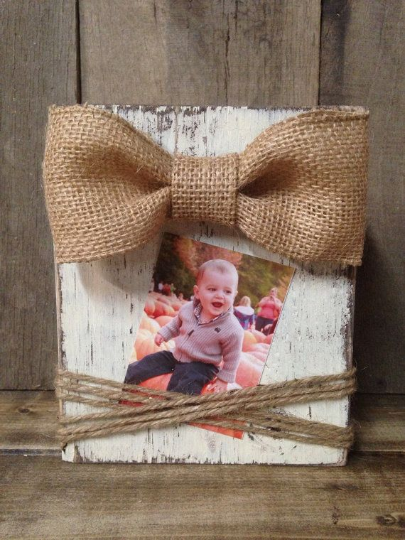 rustic frame instagram distressed wood block frame 4x4 burlap bow rustic photo frame