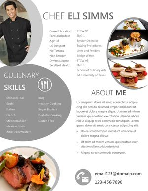 resume chef - Google 搜尋