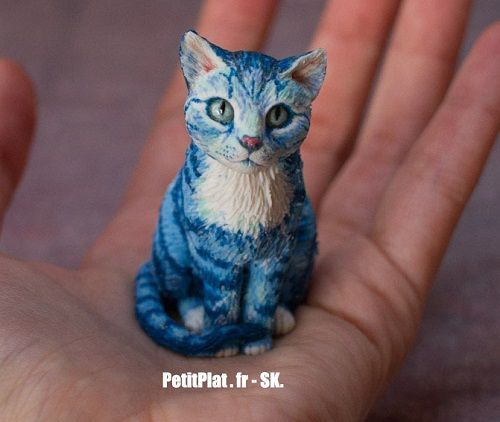 Stephanie Petitplat is a polymer clay artist based in France who specializes in miniature food. She also creates animal sculptures. So watch Stephanie create a polymer clay cat! Most of the colors sh