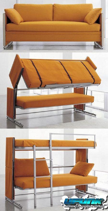 Un canapé convertible… en lits superposés !   Ufunk.net