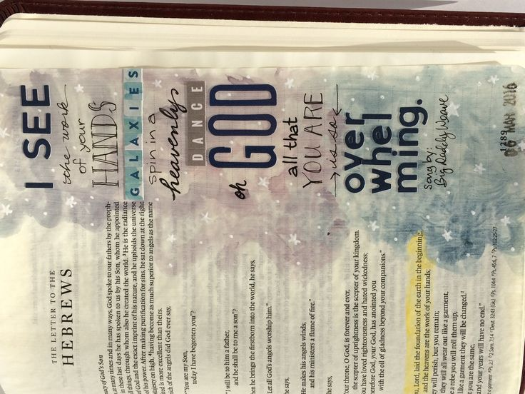 Hebrews 1:10 Bible Journaling Pages Right Page