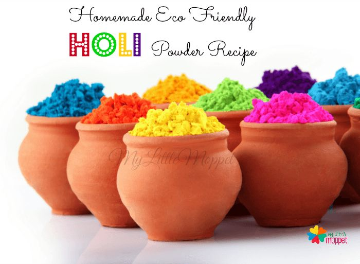 7 Eco Friendly Homemade Holi Color Powder Recipe that is ecofriendly natural, nontoxic and kids friendly