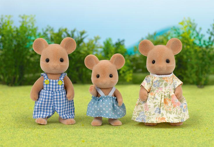 Θέλουν να έρθουν και να τρυπώσουν στην καρδούλα σου. Sylvanian Families GR ♥ Mouse Family ♥