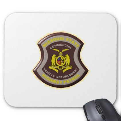 Missouri Highway Patrol Commercial Vehicle Enforce Mouse Pad - office ideas diy customize special