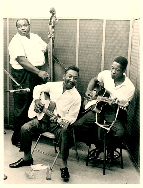 A classic picture....Willie Dixon, Muddy Waters & Buddy Guy at Chess studios, Chicago.