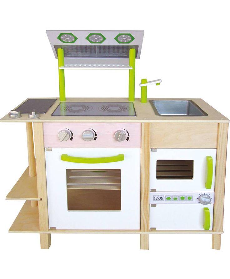 woodyland spielk che holz gr n wei for children. Black Bedroom Furniture Sets. Home Design Ideas