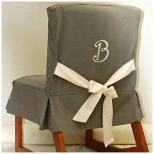 Monogrammed Dorm Chair Covers