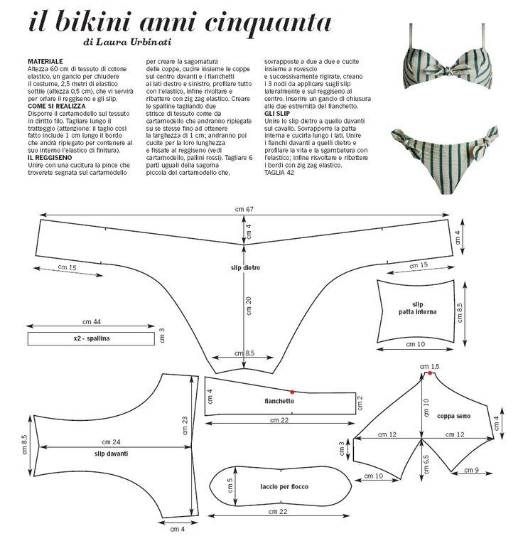 bikini draft sewing pattern