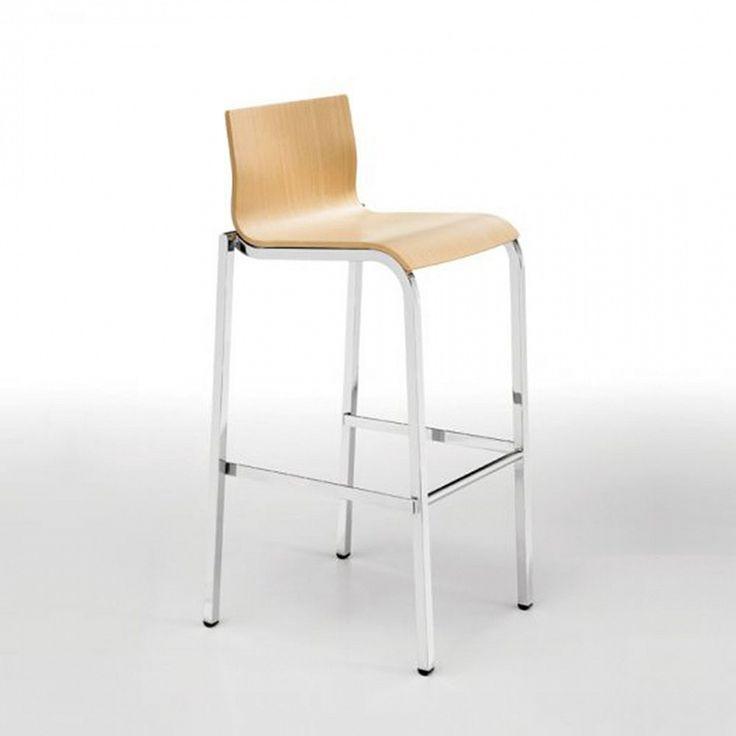 Modern steel & wood stacking bar stool Vent
