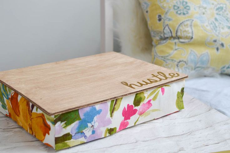 A full tutorial for a no sew project! How to make a lap desk out of a pillowcase.