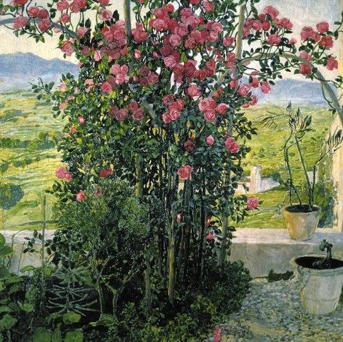 ALEXANDER YAKOVLEVICH GOLOVIN The Valley in Umbria (c.1910)
