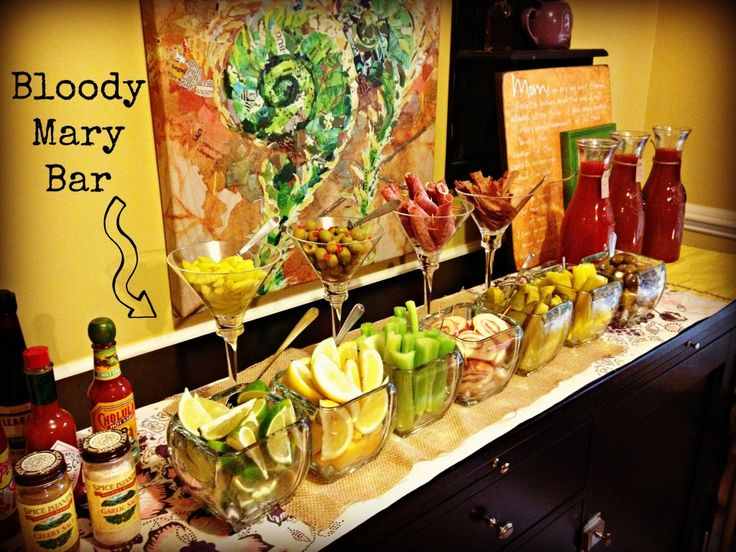 Over the TOP Bloody Mary Bar!  Great idea for after the #Wedding Recovery Party!
