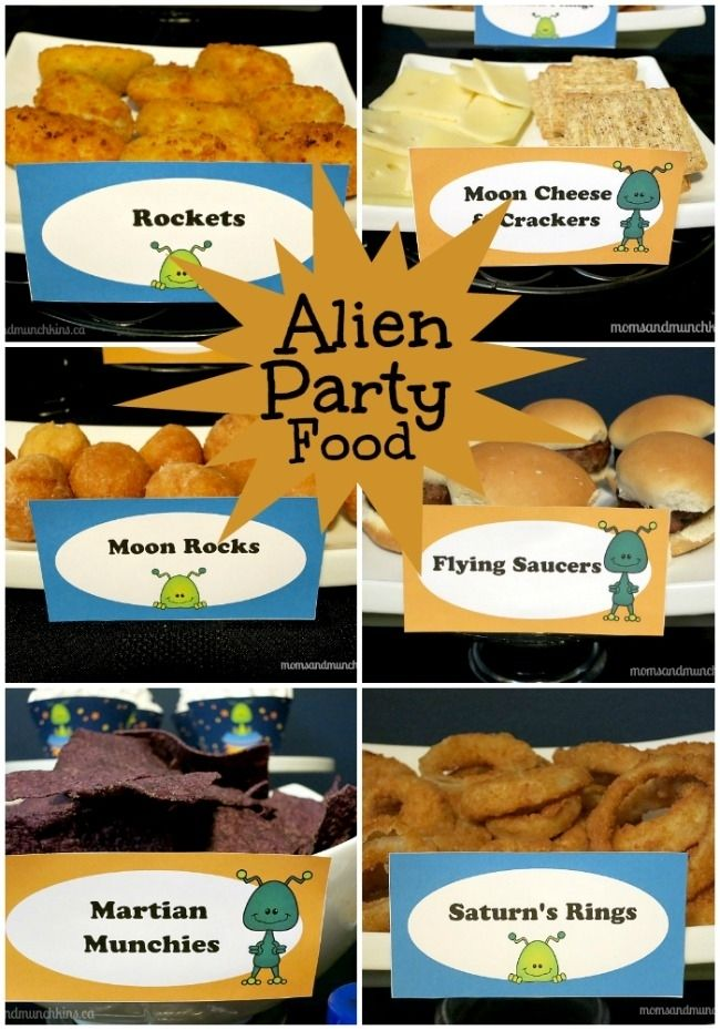 Alien Themed Birthday Party Food Ideas
