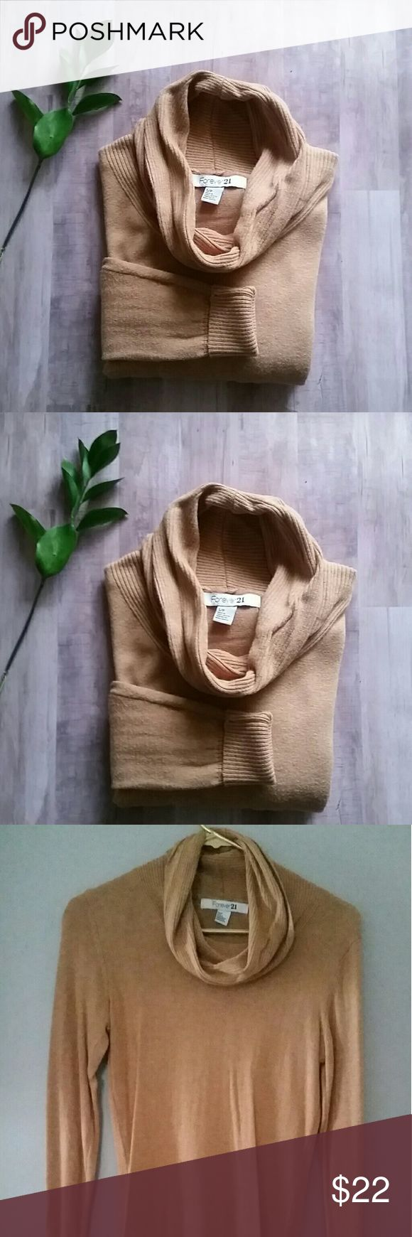 Forever 21 cowl neck sweater Tan cowl neck sweater Forever 21 Sweaters Cowl & Turtlenecks