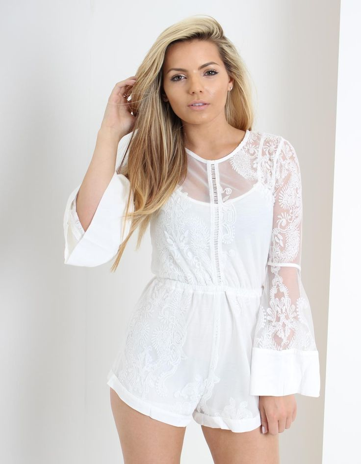 Mink Pink Sweetest Sound Playsuit Cream | Accent Clothing