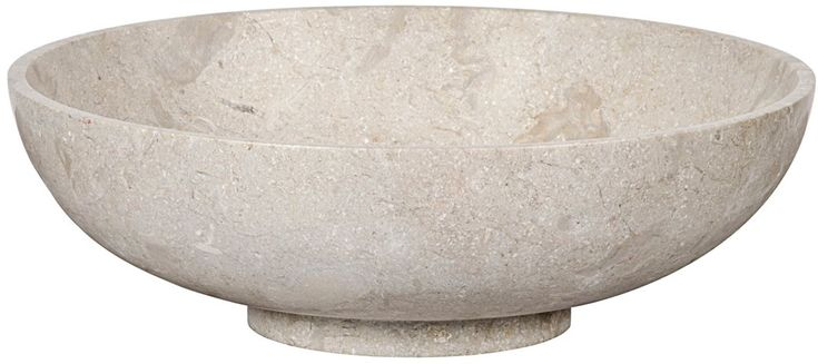 "15"" Marble Decorative Bowl, Off-White - Noir - Brands 