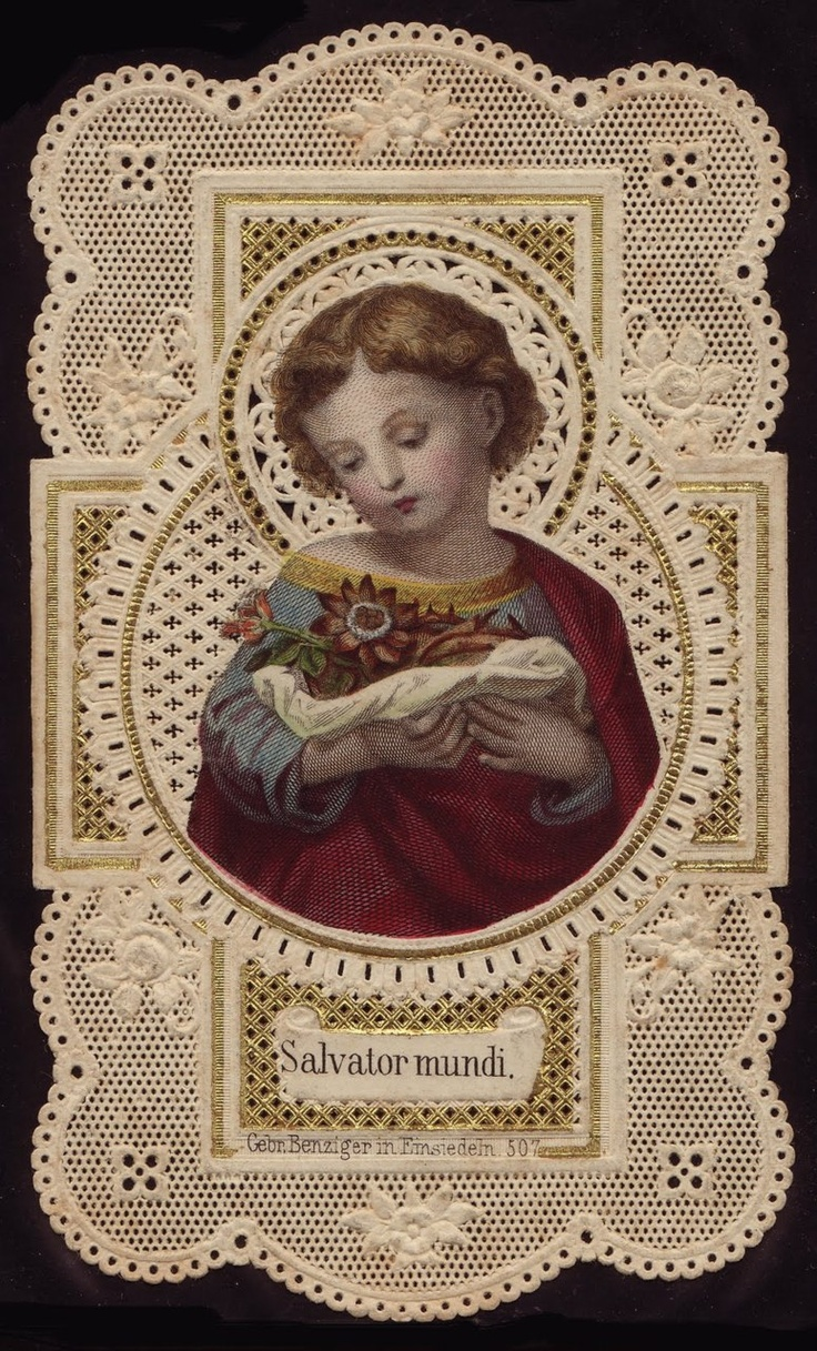"""Vintage prayer card-----""""Therefore, you must make a sound and firm resolution to submit yourselves totally to His will and, with a lively and steadfast faith, to receive from Him what you have to do for love of Him."""" -- St. Angela Merici"""