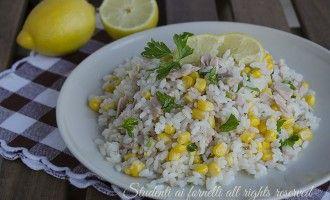 ricetta insalata di riso tonno limone e mais leggera fresca estiva veloce ricetta primo