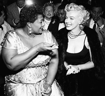 """I owe Marilyn Monroe a real debt… She personally called the owner of the Mocambo, and told him she wanted me booked immediately, and if he would do it, she would take a front table every night. She told him ... that the press would go wild. The owner said yes, and Marilyn was there, front table, every night. After that, I never had to play a small jazz club again. She was an unusual woman - a little ahead of her times. And she didn't know it."" - Ella Fitzgerald"