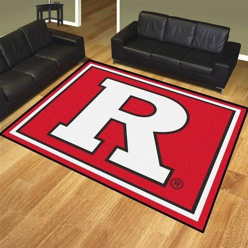 Nylon Rutgers University 8 x 10 Area Rug Carpet