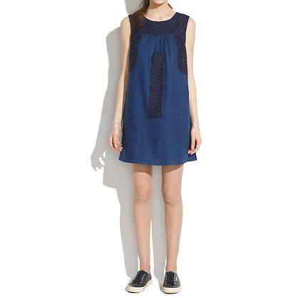 Madewell - Mercado Shiftdress in After Dusk. Just got this. Love the Mexi-ness of it. :)