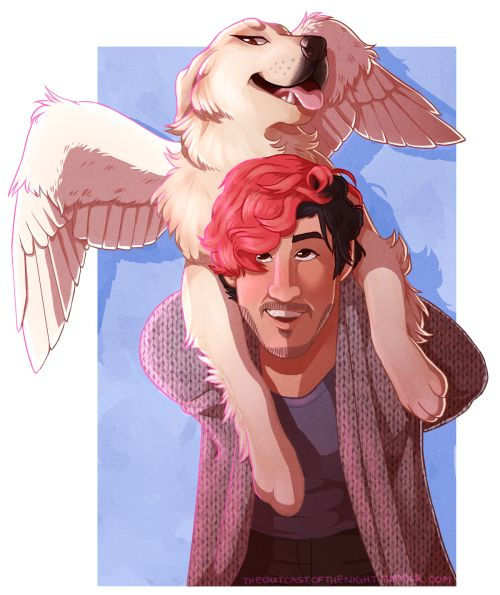 theoutcastofthenight: angels do exist.. hey look, a consecutive markiplier and chica art…. oops? markiplier: amazing!