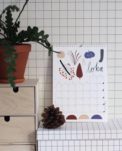 Aamut, päivät, illat, yöt calendar | Hanna-Riikka Heikkilä