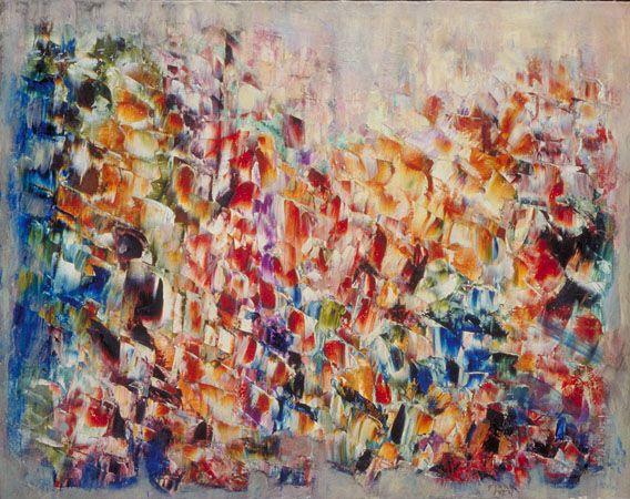Retour d'Italie no.2, Marcelle Ferron, 1954. Love this! Follow the biggest painting board on Pinterest: www.pinterest.com/atelierbeauvoir