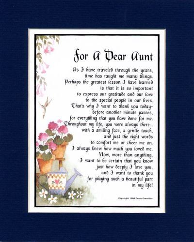 poems to an aunt
